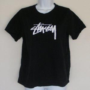 STUSSY Tshirt, XS, Black, Short sleeves, Logo front